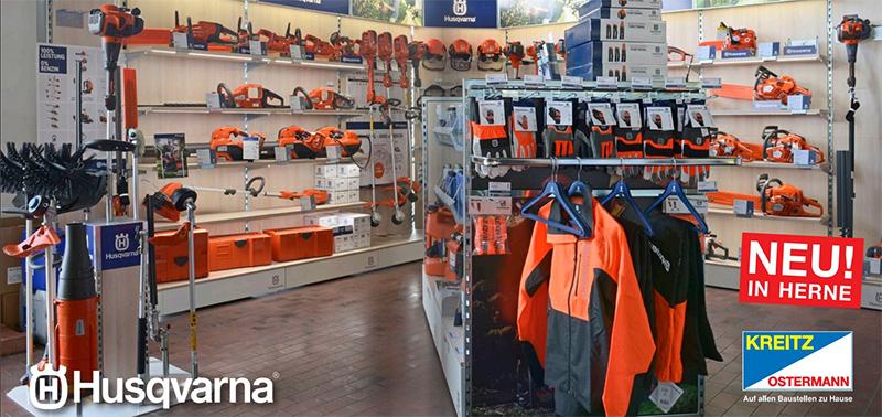 Der neue Husqvarna-Shop bei Kreitz & Ostermann